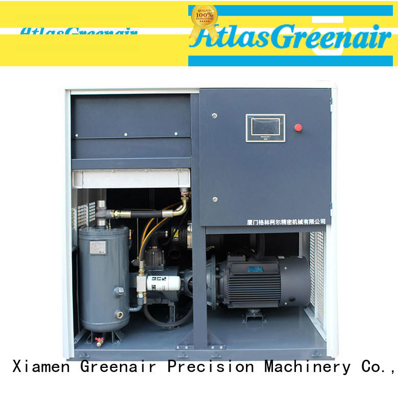 Atlas Greenair Screw Air Compressor custom variable speed air compressor with an asynchronous motor customization
