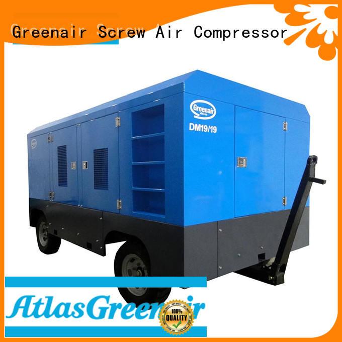 Atlas Greenair Screw Air Compressor new mobile air compressor factory for tropical area