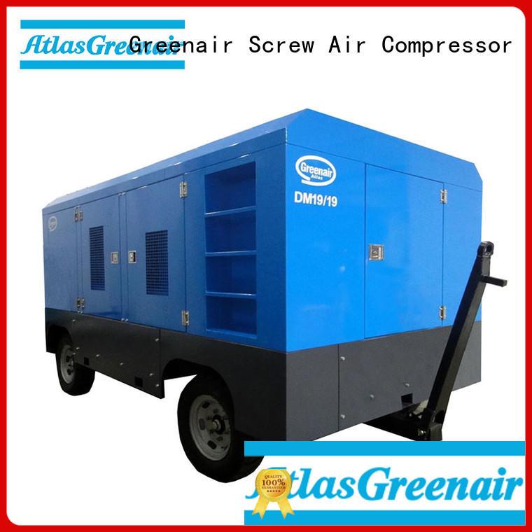 Atlas Greenair Screw Air Compressor portable diesel air compressor supplier for sale