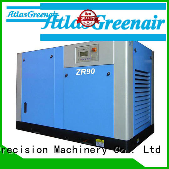 Atlas Greenair Screw Air Compressor efficient oil free rotary screw air compressor with high efficient air end for sale