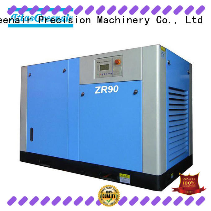 Atlas Greenair Screw Air Compressor superior quality oil free screw compressor atlas copco manufacturer for sale