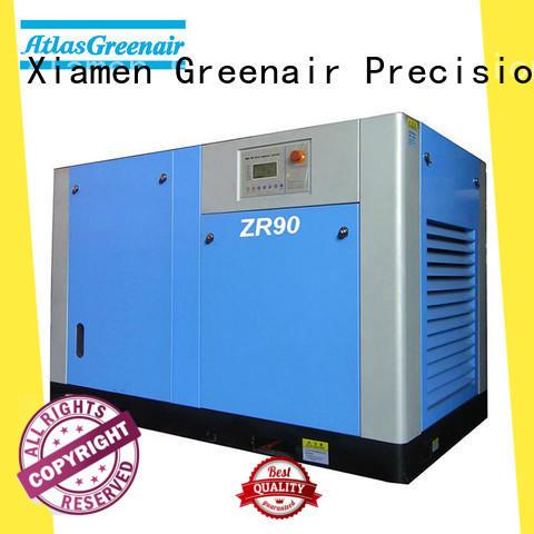 Atlas Greenair Screw Air Compressor oil free rotary screw air compressor with no lubrication oil for tropical area