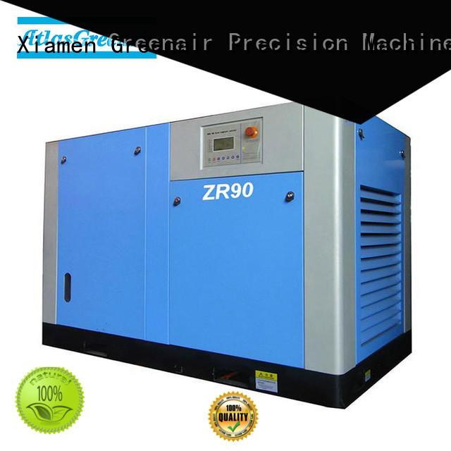 zr oil free rotary screw air compressor manufacturer for sale Atlas Greenair Screw Air Compressor