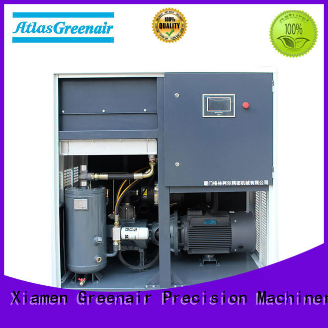 customized atlas copco oil injected rotary screw compressors with an asynchronous motor for tropical area Atlas Greenair Screw Air Compressor
