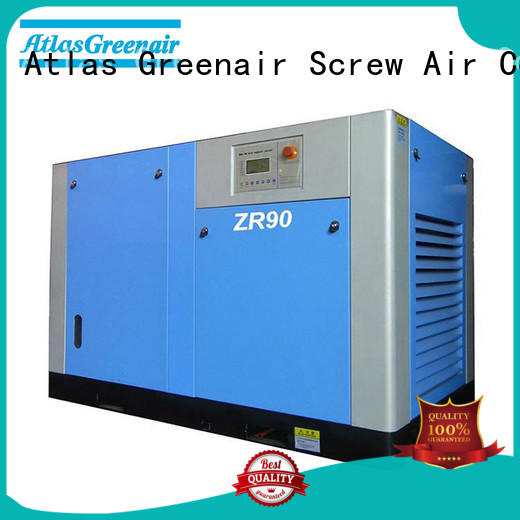 Atlas Greenair Screw Air Compressor oil free rotary screw air compressor supplier for tropical area