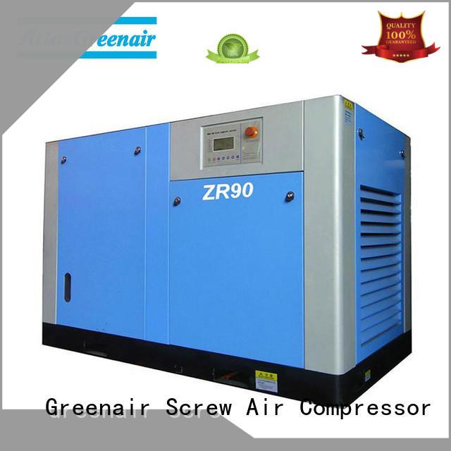 superior quality oil free rotary screw air compressor manufacturer for tropical area Atlas Greenair Screw Air Compressor