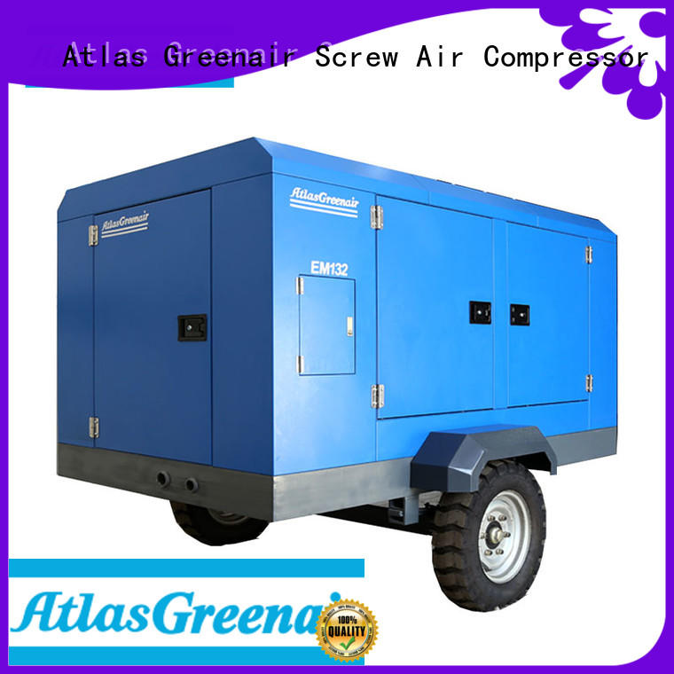 Atlas Greenair Screw Air Compressor em portable screw compressor easy maintenance for tropical area