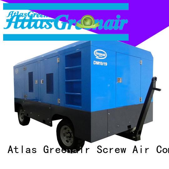 Atlas Greenair Screw Air Compressor portable diesel air compressor with intelligent control system design