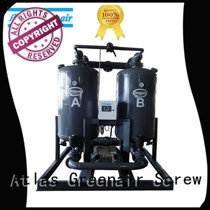 Atlas Greenair Screw Air Compressor desiccant dryer with a special silencer for tropical area