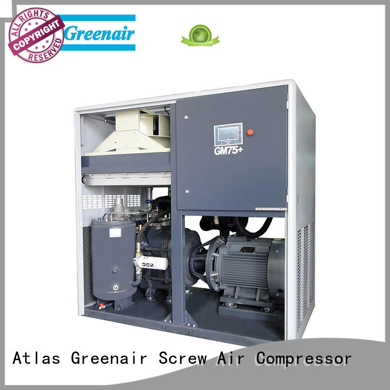 Atlas Greenair Screw Air Compressor two stage vsd compressor atlas copco with four pole motor for sale