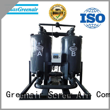 Atlas Greenair Screw Air Compressor wholesale adsorption air dryer with an air compressed actuated valve for sale