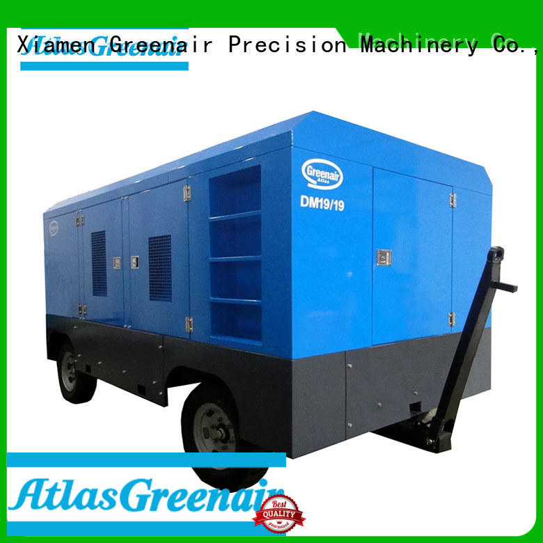 Atlas Greenair Screw Air Compressor mobile air compressor with filtration and cooling system for tropical area