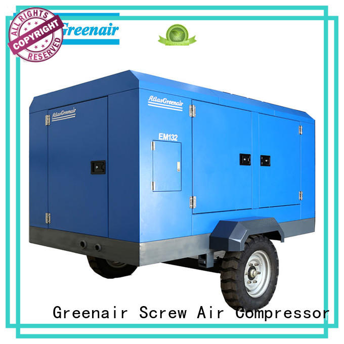 Atlas Greenair Screw Air Compressor new portable screw compressor with intelligent control system for sale