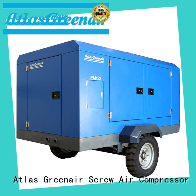Atlas Greenair Screw Air Compressor customized portable rotary screw compressor for tropical area