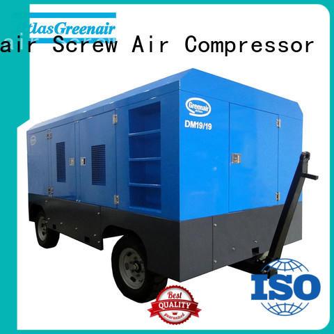 Atlas Greenair Screw Air Compressor factory price portable diesel air compressor company design