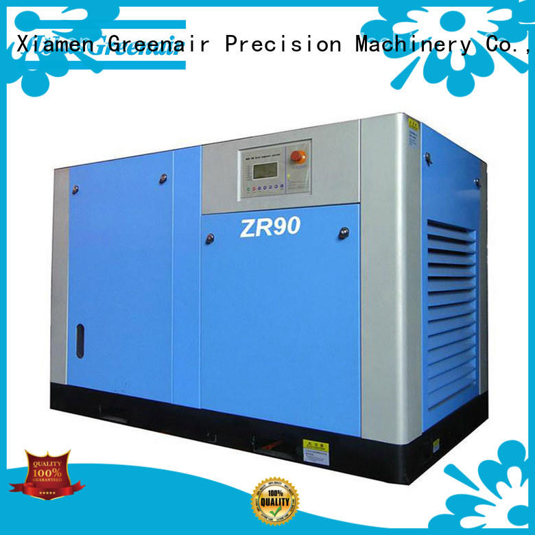 new oil free rotary screw air compressor supplier customization