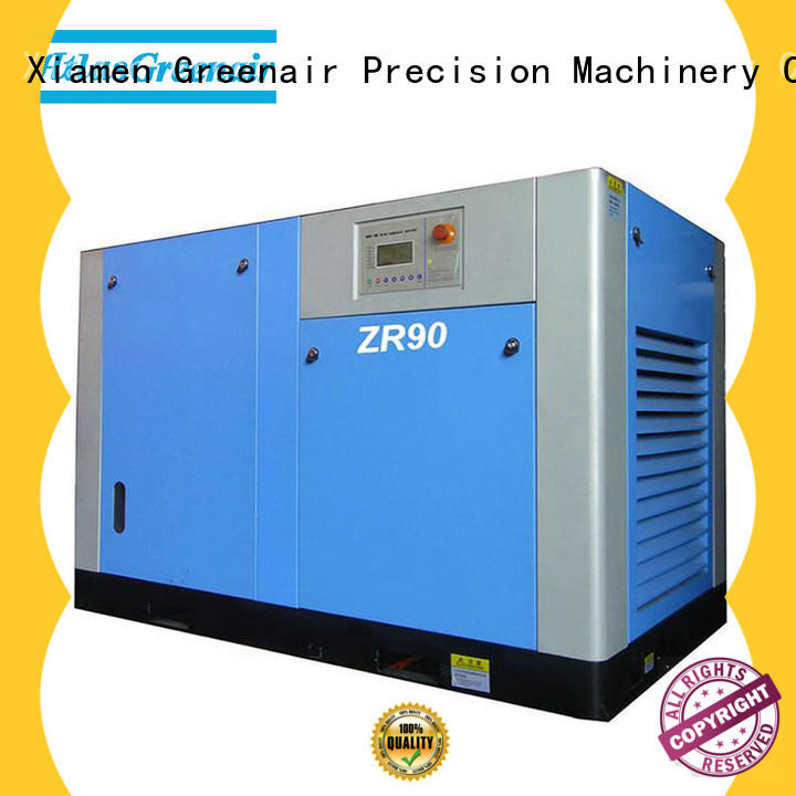 Atlas Greenair Screw Air Compressor professional oil free rotary screw air compressor with high efficient air end customization