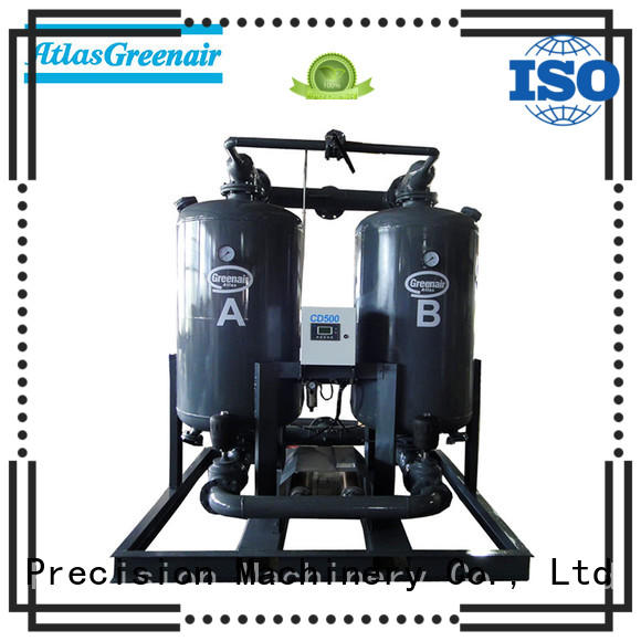 Atlas Greenair Screw Air Compressor desiccant air dryer with a special silencer for sale