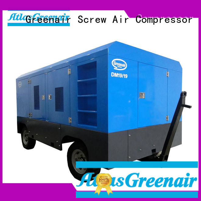 Atlas Greenair Screw Air Compressor rotary diesel engine driven portable air compressor with intelligent control system design