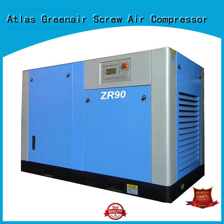 Atlas Greenair Screw Air Compressor high quality oil free rotary screw air compressor manufacturer customization
