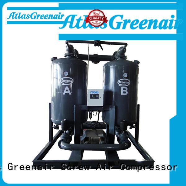 Atlas Greenair Screw Air Compressor top desiccant air dryer supplier for a high precision operation
