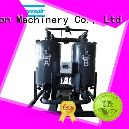 efficient heatless desiccant compressed air dryer with a special silencer for sale